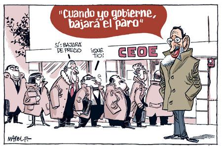 Rajoy y el paro