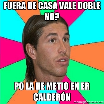 Champions League 2012 - Sergio Ramos mete gol en el Calderón