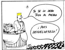 El Rey se lo debe todo al Pueblo