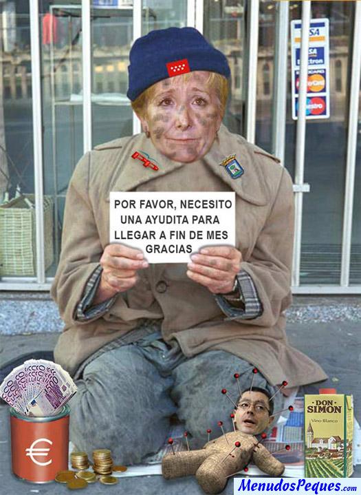 Esperanza Aguirre no llega a fin de mes