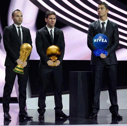Futbolistas premiados en el 2012