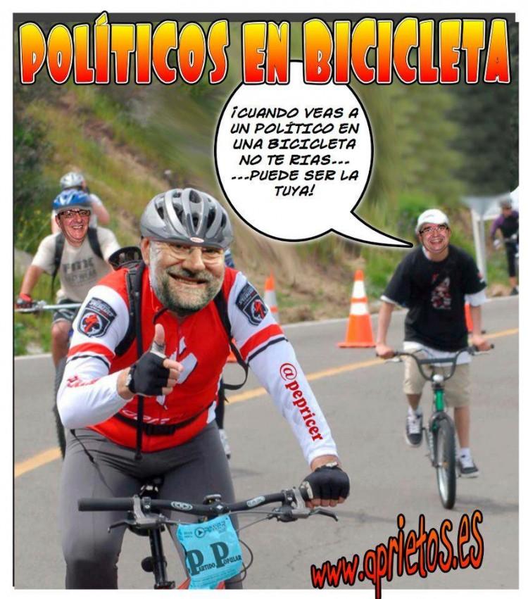 Mariano en bicicleta
