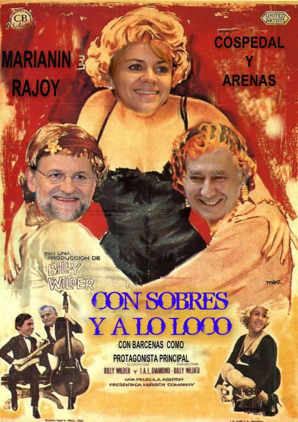 Mariano, Cospedal y Arenas en Con sobres y a lo loco