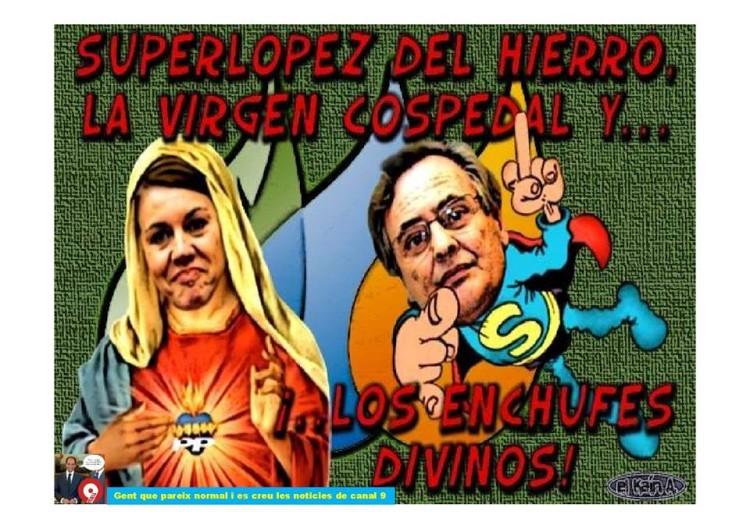 La Virgen Cospe y los enchufes divinos