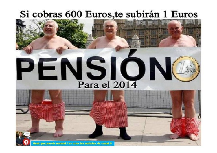Medidas sobre las pensiones para el 2014