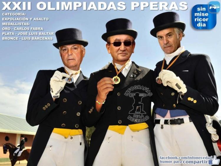 Fabra, Baltar y Bárcenas en las Olimpiadas PPeras