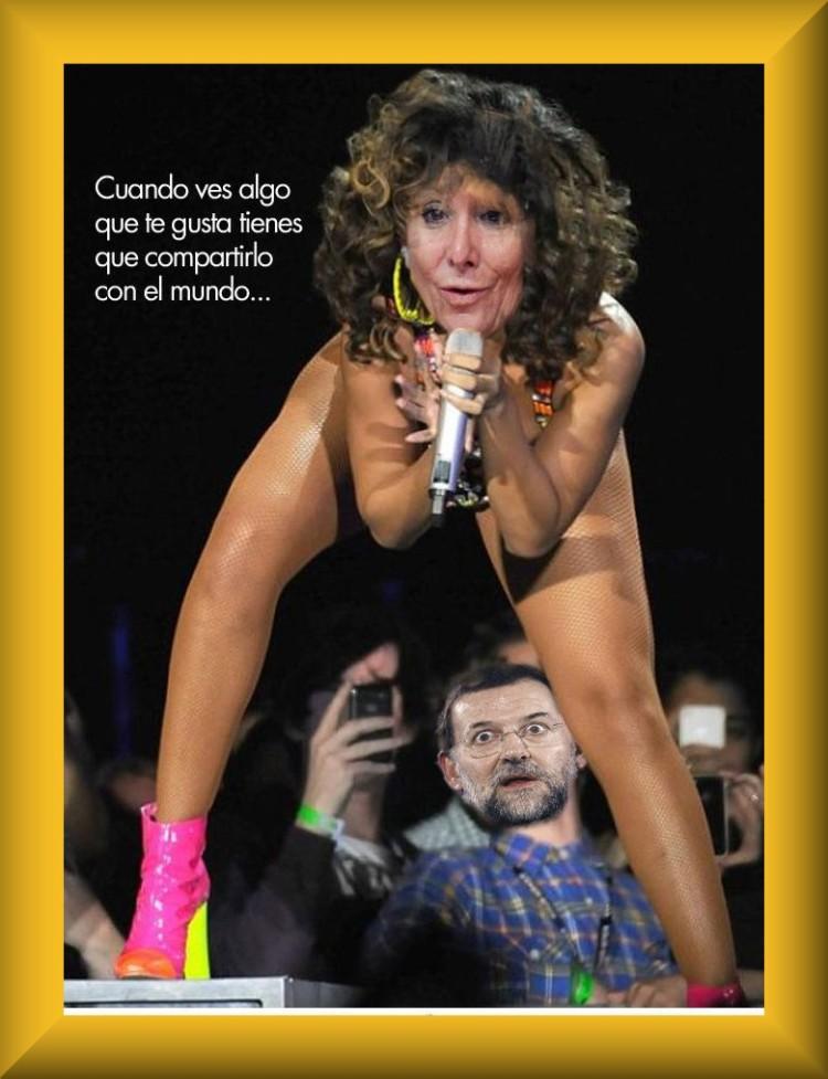 Rajoy, cuando ves algo que te guste tienes que compartirlo