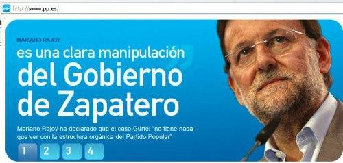 Mariano dice que la culpa es de Zapatero