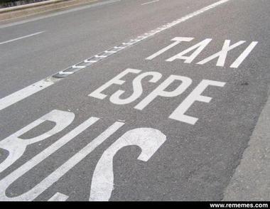 Carril Taxi Espe Bus