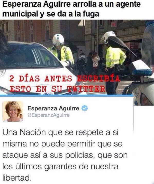Esperanza Aguirre o por la boca muere el pez