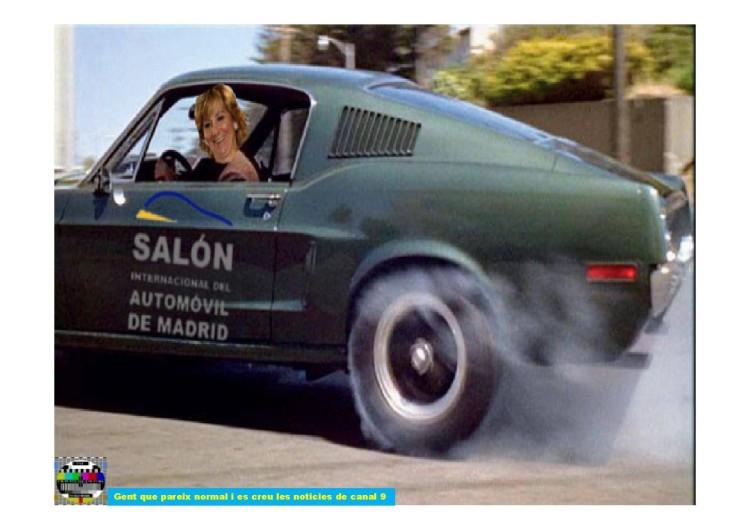 Esperanza Aguirre quemando rueda