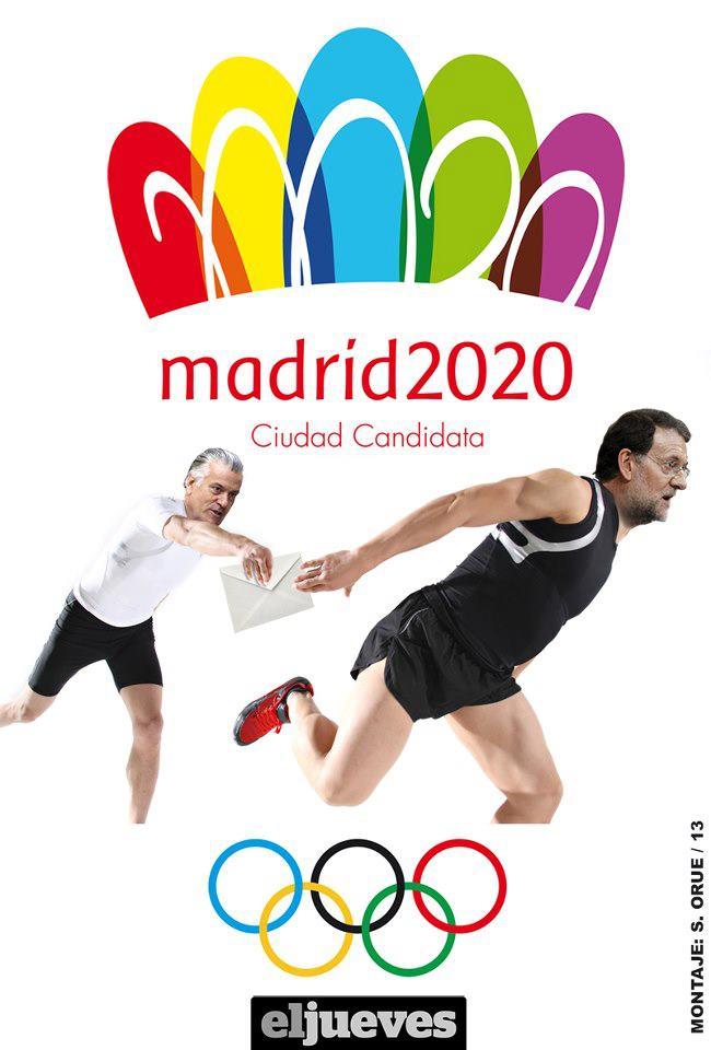 Madrid 2020 - Barcenas y Mariano en la carrera de relevos