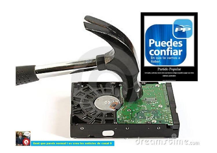 El PP y los discos duros