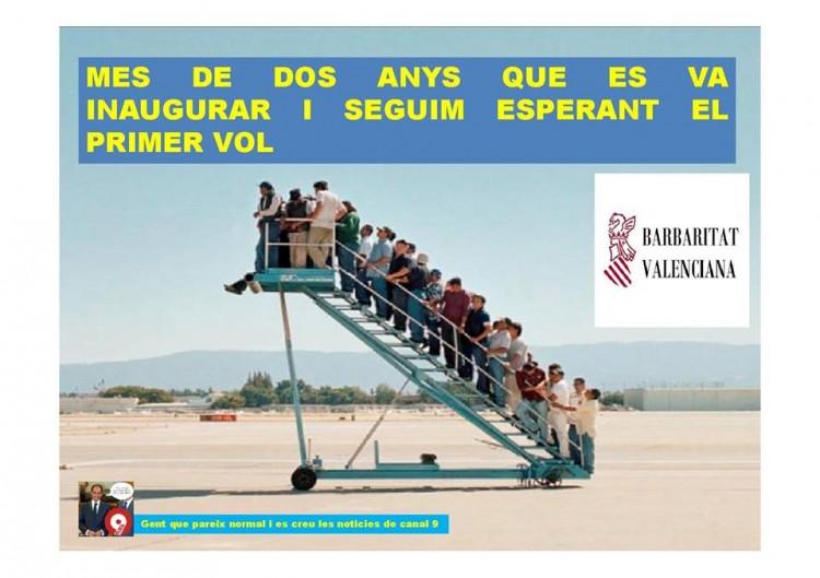 En el aeropuerto de Castellón