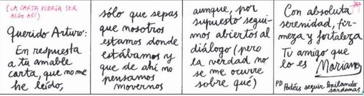 Mariano le escribe a Artur