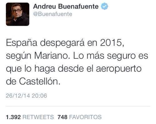 Según Mariano, España despegará en 2015