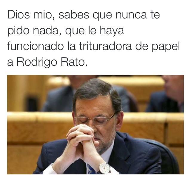 Mariano y la trituradora de papel de Rodrigo Rato