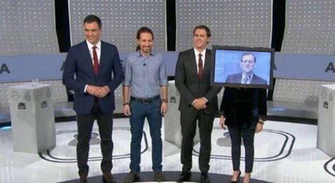 Mariano en el debate a cuatro