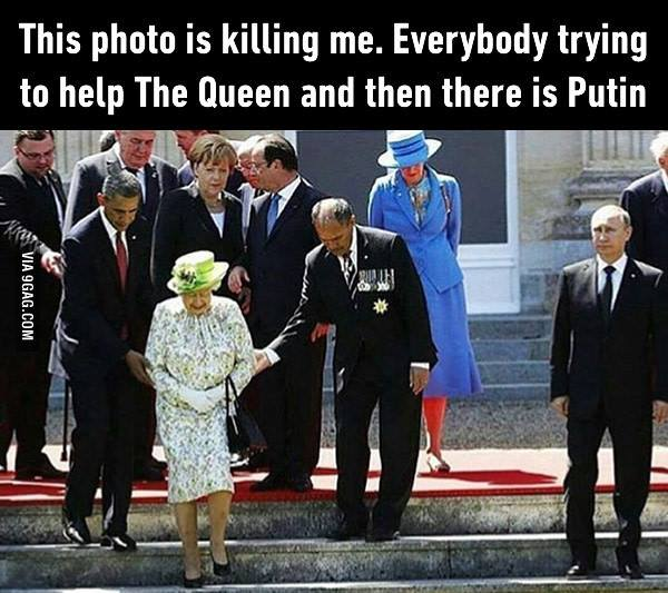 Putin and The Queen