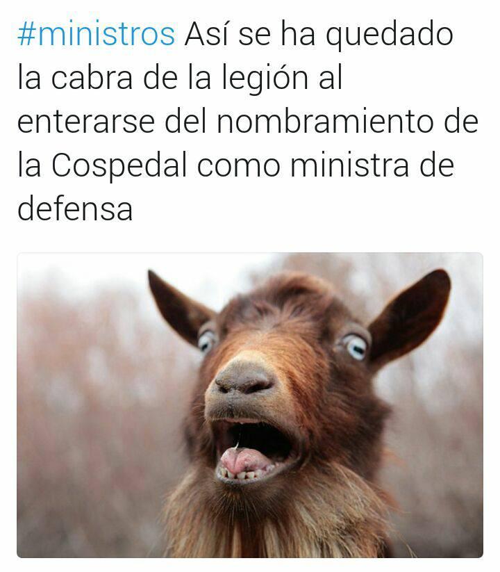 Cospedal y la cabra de la Legión